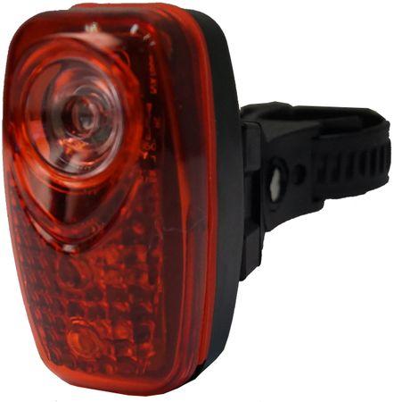 Olpran lampka tylna 3 super red LED black