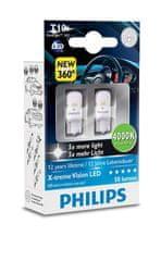 Philips X-tremeVision LED T10, hrejivá biela, 4000K, 2ks