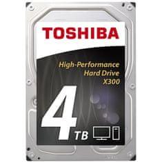 TOSHIBA tvrdi disk X300 4TB, 7200rpm, 128MB, SATA3, 3,5