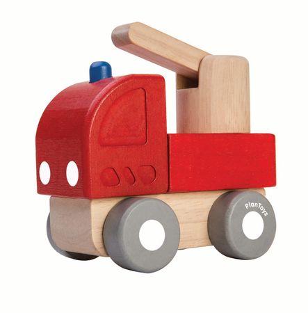 Plan Toys Mini wóz strażacki, drewniany