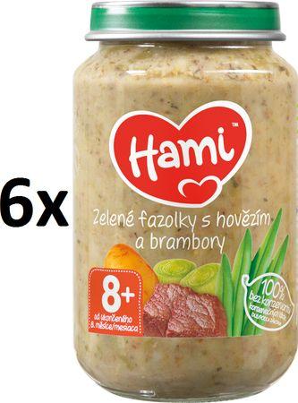 Hami Zelené fazuľky a hovädzie mäso so zemiakmi - 6 x 200g