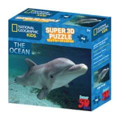 National Geographic sestavljanka 3D - Delfin, 48 kosov, 31 x 23 cm