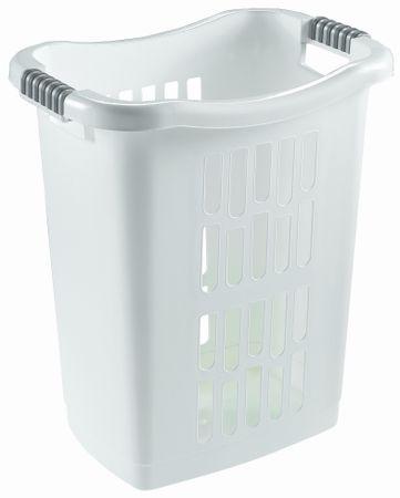 Heidrun košara za rublje s rupicama, 60l, bijela