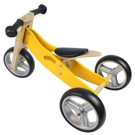 Yookidoo Dřevěné odrážedlo 2v1 mini žluté - zánovní