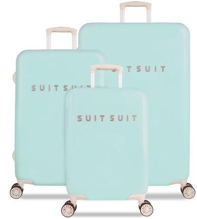 SuitSuit Set kovčkov Fabulous Fifties Luminous Mint, zeleno modri
