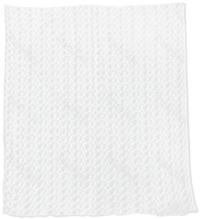 EKO Detská deka 80x90 volánik - biela
