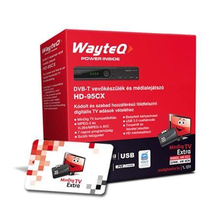 MindigTV Családi csomag Wayteq dekóderrel 12 hónap előre fizetett