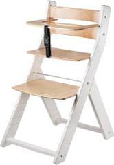 Wood Partner Dětská rostoucí židle LUCA bílá