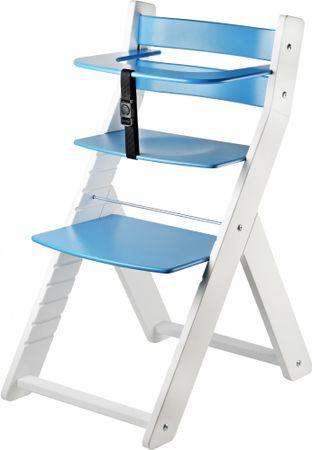 Wood Partner Krzesełko do karmienia LUCA, biało-niebieskie