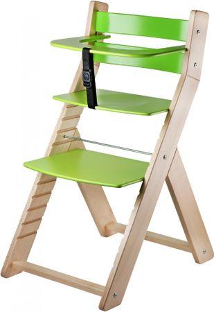 Wood Partner Dětská rostoucí židle LUCA natur/zelená
