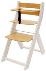 Wood Partner Dětská rostoucí židle UNIZE bílá