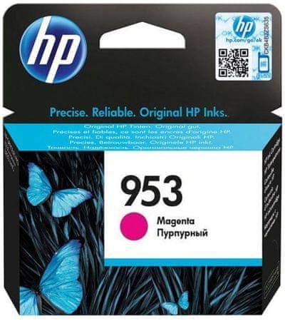 HP 953 purpurová originální inkoustová kazeta (F6U13AE)