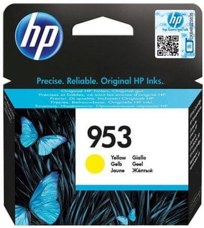 HP 953 žlutá originální inkoustová kazeta (F6U14AE)