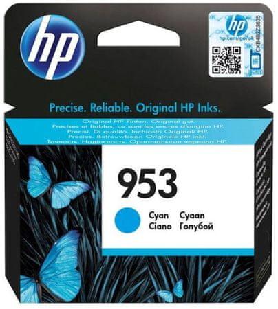 HP 953 azurová originální inkoustová kazeta (F6U12AE)