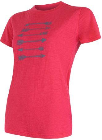 Sensor ženska majica Merino Wool Active PT, rdeča, L