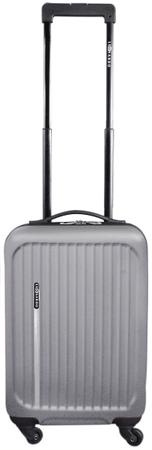 Leonardo Trolley Premium Bőrönd, Ezüst