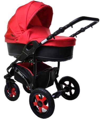 Sun Baby Wózek wielofunkcyjny Ibiza 2w1, czerwony