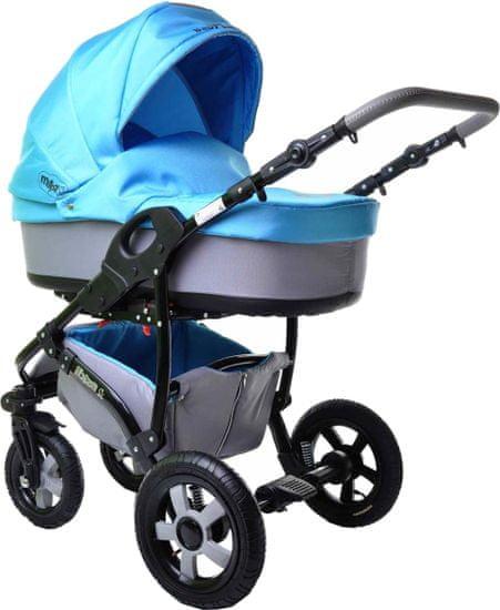 Sun Baby Kombinovaný kočárek 2v1 Ibiza, modrý - zánovní