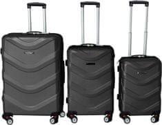 Leonardo Zestaw walizek ABS, czarne