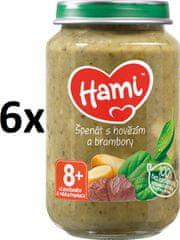 Hami Špenát, zemiaky a hovädzie - 6 x 200g
