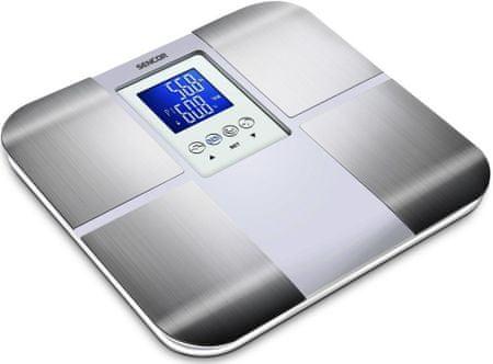 SENCOR waga łazienkowa SBS 6015 biały/ srebrny