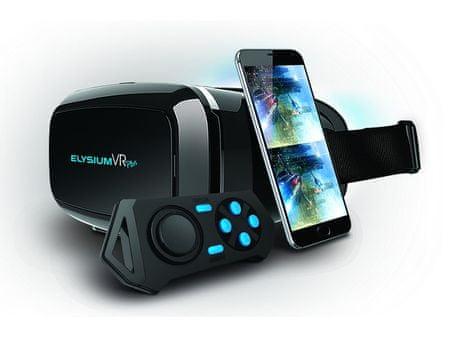 9248383d0 GOCLEVER virtuální brýle Elysium VR PLUS s BT ovladačem ...