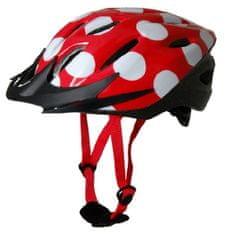 Kiddimoto otroška kolesarska čelada Red Dotty