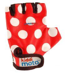 Kiddimoto otroške rokavice Red Dotty
