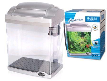 Hailea LED akvárium komplett felszereltséggel FC200E ezüst, 6,6/4l
