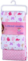 T-tomi Materiałowe ręczniki (2 szt.), różowe ślimaki