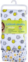 T-tomi Materiałowe ręczniki (2 szt.), szare jeże