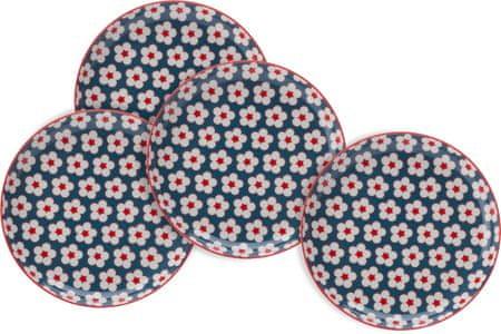 Maxwell & Williams set tanjura za desert Cotton Bud, 18,5 cm, plavi, 4kom