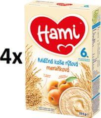 Hami Mléčná kaše s meruňkami - 4x225g
