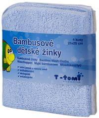 T-tomi Bambusowe myjki do kąpieli, 4 szt.