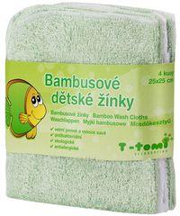 T-tomi Bambusz mosdókesztyű 4 db
