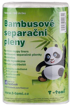 T-tomi bambusova plenična podloga 2 x 100 kosov