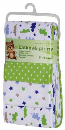 T-tomi Textilpelenka, Zöld krokodilos, 4 db