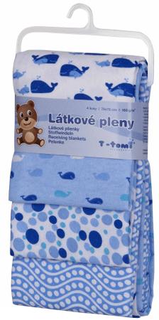 T-tomi Pöttyös-Bálnás Textilpelenka, 76X76 cm