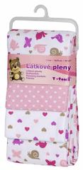 T-tomi Látkové plienky, sada 4 ks, ružoví slimáky