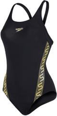 Speedo ženski kupaći kostim Monogram Muscleback, crni