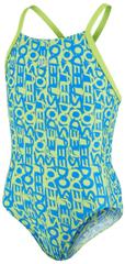 Speedo dječji kupaći kostim Allover Rippleback, plavi
