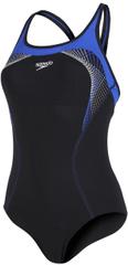 Speedo ženski kupaći kostim Fit Kickback, crni