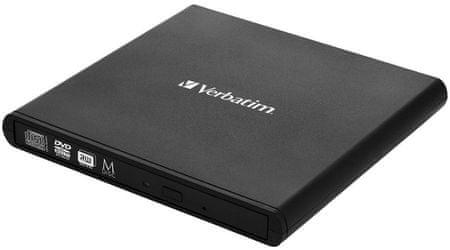 Verbatim napęd zewnętrzny Slimline DVD/CD, USB 2.0, czarny (98938)