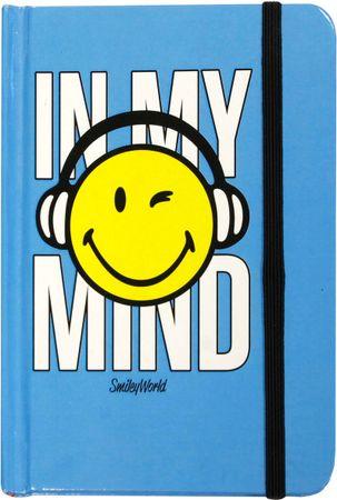 Smiley notesnik trdi z elastiko, A6, 96 listov