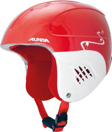 Alpina Sports otroška smučarska čelada Carat Kids, rdeča, 48 - 52