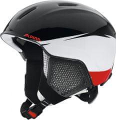 Alpina Sports otroška smučarska čelada Carat LX, črno-bela