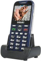 Evolveo EasyPhone XD, modrá, nabíjecí stojánek - zánovní
