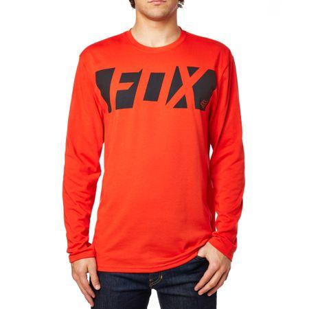 FOX T-shirt męski Cease Ls Tech Tee M czerwony
