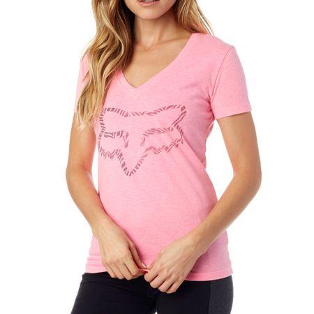 FOX ženska majica Phoenix V Neck Ss Tee XS roza
