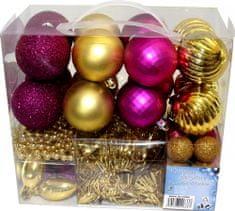 Seizis Set okraskov zlati in vijolični 50 kosov